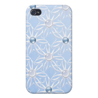 Lacy Snowflakes with Beads iPhone 4 Cover