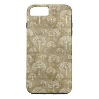 Lacy Trees Pattern on Grunge iPhone 7 Plus Case