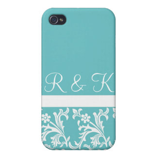 Lacy Turquoise Custom iPhone case iPhone 4/4S Covers