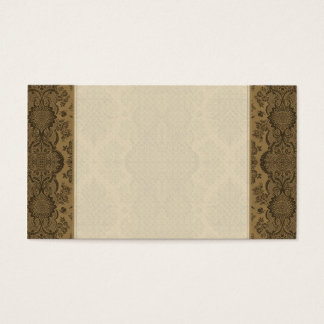 Lacy Vintage Floral in Brown Business Card