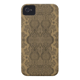 Lacy Vintage Floral in Brown Case-Mate iPhone 4 Case