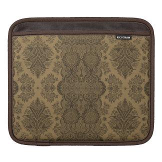 Lacy Vintage Floral in Brown iPad Sleeve