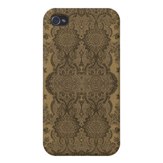 Lacy Vintage Floral in Brown iPhone 4/4S Case