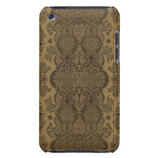 Lacy Vintage Floral in Brown iPod Case-Mate Cases