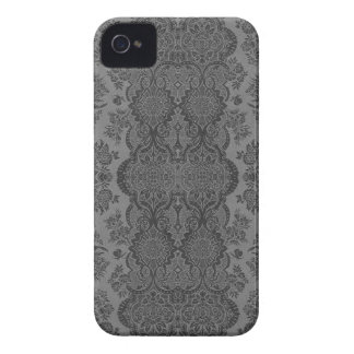 Lacy Vintage Floral in Gray iPhone 4 Case-Mate Case