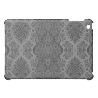 Lacy Vintage Floral in Gray iPad Mini Cover