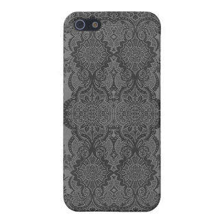 Lacy Vintage Floral in Gray iPhone 5/5S Cover