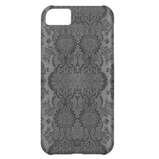 Lacy Vintage Floral in Gray iPhone 5C Case