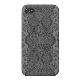 Lacy Vintage Floral in Gray Case For iPhone 4