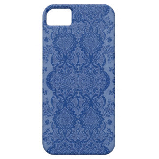 Lacy Vintage Floral in Medium Blue iPhone 5 Cover
