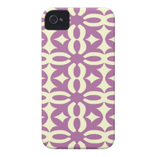 Lacy Violet Victorian Print iPhone 4 Cases