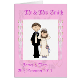 Lacy Wedding Card