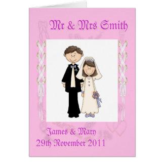 Lacy Wedding Greeting Card