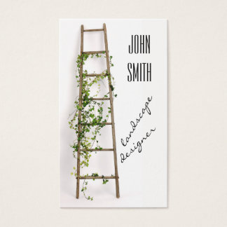 Ladder decorated with ivy twigs