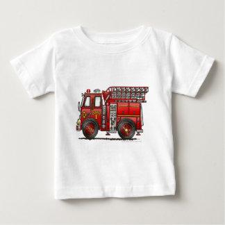 Ladder Fire Truck Firefighter Baby T-Shirt