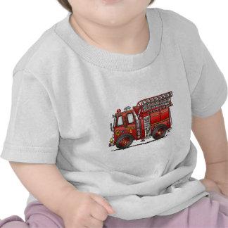 Ladder Fire Truck Firefighter Shirts