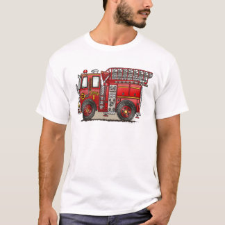Ladder Fire Truck Mens T-Shirt