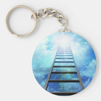 Ladder of Light Basic Round Button Key Ring