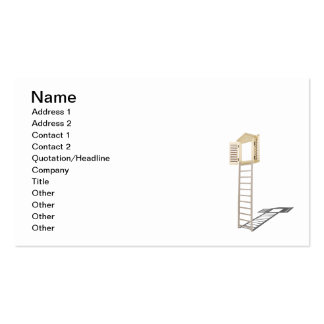 Ladder to Shuttered Window Business Card Template