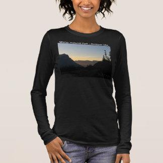 Ladies 3/4 sleeve dark Glacier National Park Long Sleeve T-Shirt