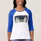 Ladies 3/4 Sleeve Fitted Raglan T-Shirt