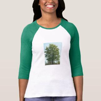 LADIES 3/4 SLEEVE RAGLAN - GREEN TREE TEE SHIRT