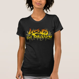 Ladies 420am Mayhem Rasta Weed T-Shirt
