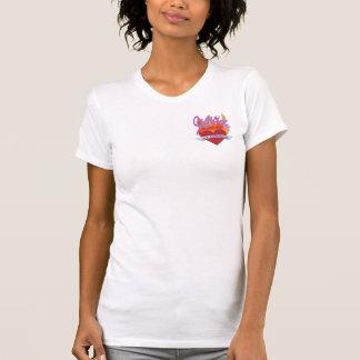 Ladies AA Reversible Sheer Top Seguida T-Shirt