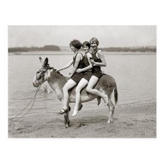 Ladies at Arlington Beach, 1924 Postcard