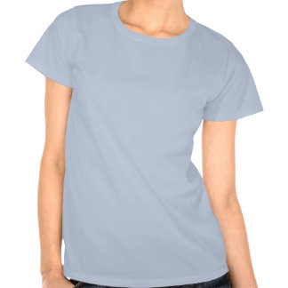 Ladies Baby Doll Fitted Blue Tshirt