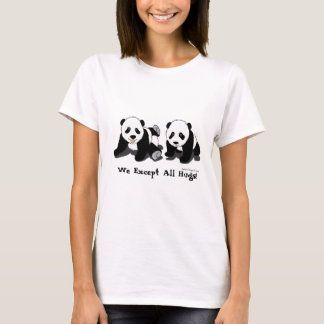 Ladies Baby Doll Panda Bear Shirt