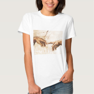 Ladie's Baby Doll Shirt - The Creation of Adam