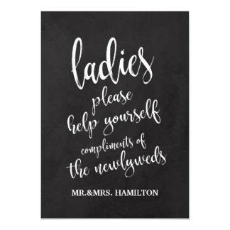 Ladies Bathroom Basket Affordable Chalkboard Sign Card
