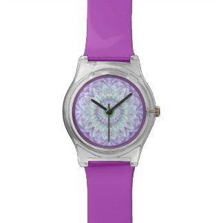 Ladies Beautiful Purple Abstract Medallion Wristwatches