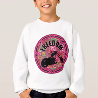 Ladies Biker Freedom Sweatshirt