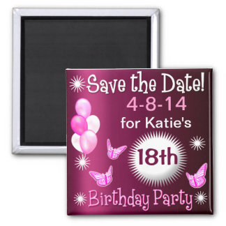 Ladies Birthday Invitation Magnet