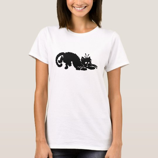 Ladies Black Cat Tee