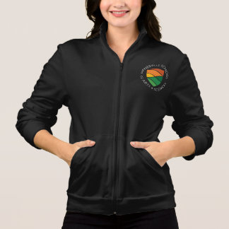 Ladies Black Fleece Logo Jacket