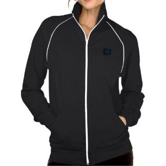 Ladies Black Fleece Track Jacket