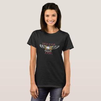 Ladies Black T Front T-Shirt