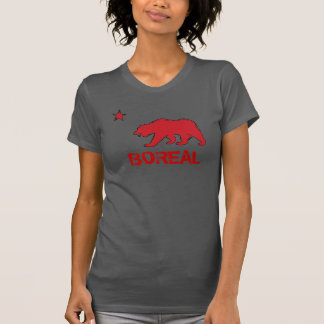 Ladies Boreal California red gray bear tee