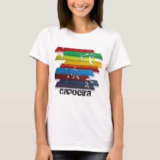 ladies capoeira martial arts rainbow T-Shirt
