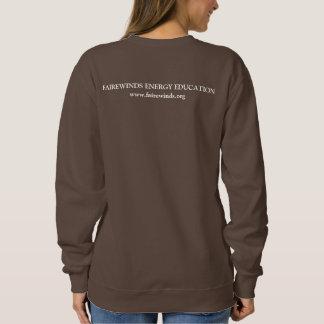 Ladies' Chocolate Br. Radiation Symbol Sweatshirt