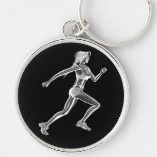 Ladies Chrome Runner Keychain