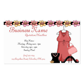 Ladies Clothes & Accessories Girly Business Cards