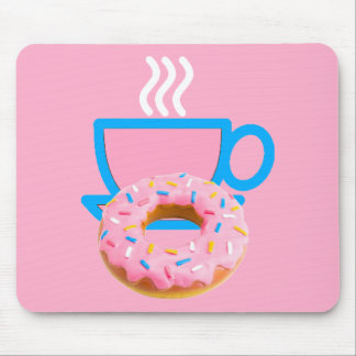Ladies Coffee & Doughnut Mouse Mat