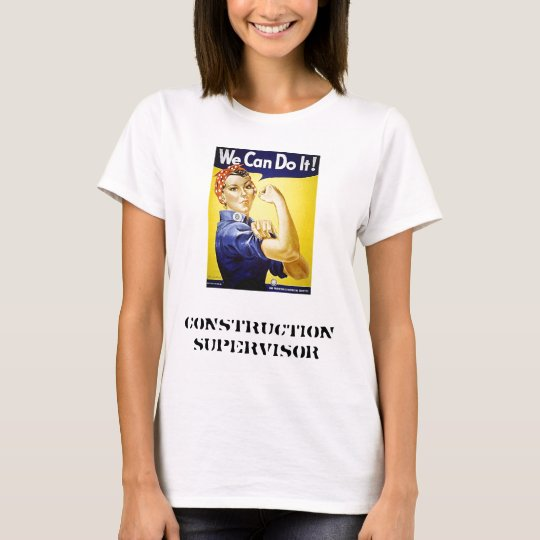 Ladies construction supervisor t-shirt