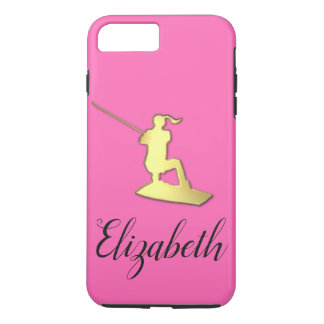 Ladies Custom Golden Wakeboarder Phone Case