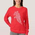 Ladies Dark Basic T-Shirt Template - Customised