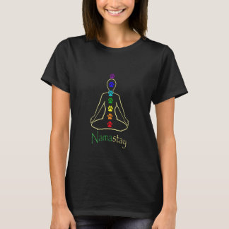 Ladies Dark Namaste Namastay T-Shirt